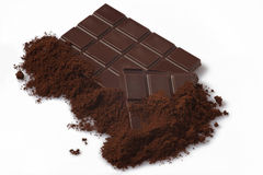 Chocolate white background Royalty Free Stock Photography