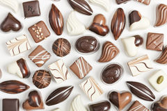 Chocolate on white background Stock Photos