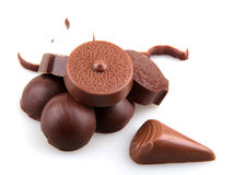 Chocolate  on a white background Royalty Free Stock Image