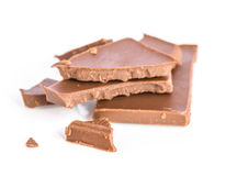 The chocolate on white background. Royalty Free Stock Image