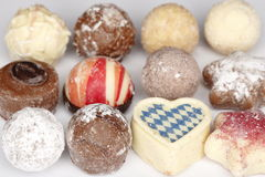 Chocolate on white background Stock Photos