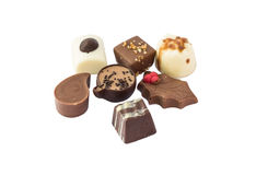 Chocolate. On white background (isolated Royalty Free Stock Photography