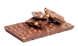 Chocolate with whole nuts Royalty Free Stock Photos