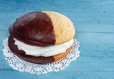 Chocolate whoopie pie Stock Image