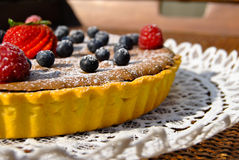 Chocolate and wildberries pie Royalty Free Stock Photography