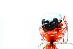 Chocolate in wine glass Royalty Free Stock Photos