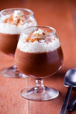 Chocolate And Wipped Cream Dessert Stock Images