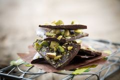 Chocolate With Pistacios Royalty Free Stock Image