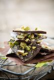 Chocolate With Pistacios Stock Photos