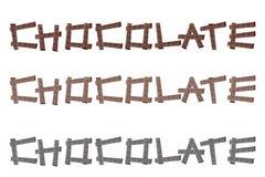 Chocolate word Stock Photos