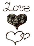 Chocolate word Stock Photo