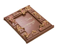 Chocolate with words Happy Birthday in Russian Stock Photography
