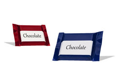 Chocolate wraped in colorful foil Royalty Free Stock Images