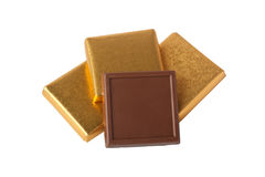 Chocolate in wrapper Stock Photography