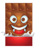 Chocolate wrapping cartoon character laughing Royalty Free Stock Images