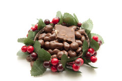 Chocolate in the wreath Royalty Free Stock Image