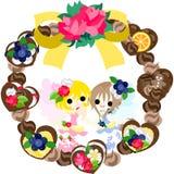 The chocolate wreath Stock Photo