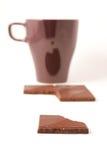 Chocolate y café Fotos de archivo libres de regalías