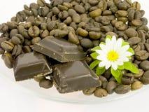 Chocolate y café Fotografía de archivo libre de regalías