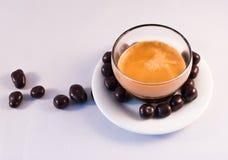 Chocolate y café imagenes de archivo