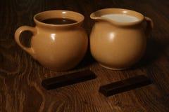 Chocolate y café imagen de archivo libre de regalías