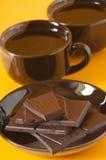 Chocolate y café oscuros Fotos de archivo