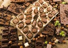 Chocolate y café Imágenes de archivo libres de regalías