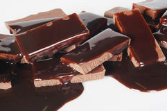 Chocolate y jarabe Fotos de archivo