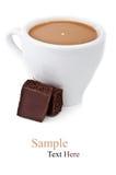 Chocolate y taza de café Foto de archivo libre de regalías