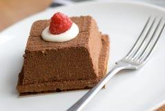 Chocolate y torta del amaretto fotografía de archivo libre de regalías