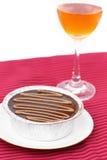 Chocolate y vino de la torta Imagen de archivo