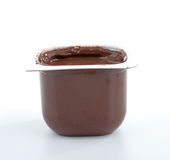Chocolate yogurt Royalty Free Stock Image