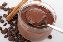 Chocolate yogurt Royalty Free Stock Images