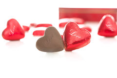 Chocolate for your love Stock Images