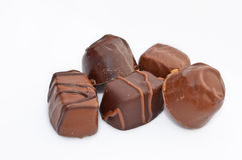 Chocolate. 5 Yummy chocolate treats ready to eat stock images