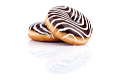 Chocolate Zebra Donuts Stock Image