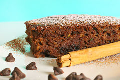 Chocolate zucchini bread Royalty Free Stock Images