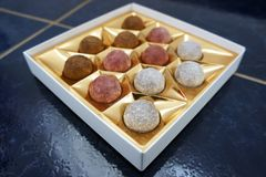 Chocolateballs Royaltyfria Foton