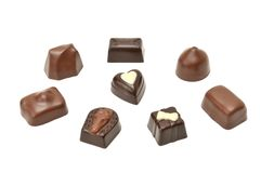 Chocolates Fotografia de Stock Royalty Free