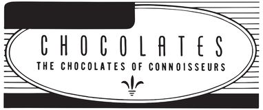 Chocolates. For The Discerning Palate - Retro Ad Art Banner vector illustration