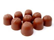 The chocolates stock image