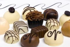 Chocolates 2. Delicious chocolates and truffels await your arrival Stock Photography