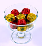 Chocolates in bowl Royalty Free Stock Photos