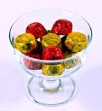 chocolates in bowl Royalty Free Stock Photos