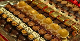 Chocolates. Belgian chocolate is famous for its quality of ingredients and the adherence to Old World manufacturing techniques. Even in today's world of royalty free stock photo