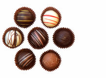 Chocolates. Assorted chocolates stock photo