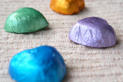 Chocolates. With colorful wraps stock photography