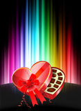 Chocolates on Abstract Spectrum Background. Original Illustration stock illustration