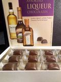 Chocolates with alcohol stock photography