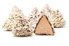 Chocolates And Half Chocolate Royalty Free Stock Photography